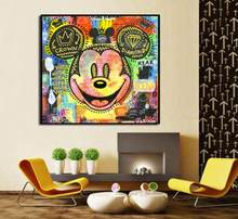 Hand painted pop art oil painting on canvas without framed good for bedroom decoration(China)