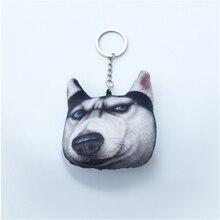 Cute Creative Cat Dog Head Key Chain Dog Accessories