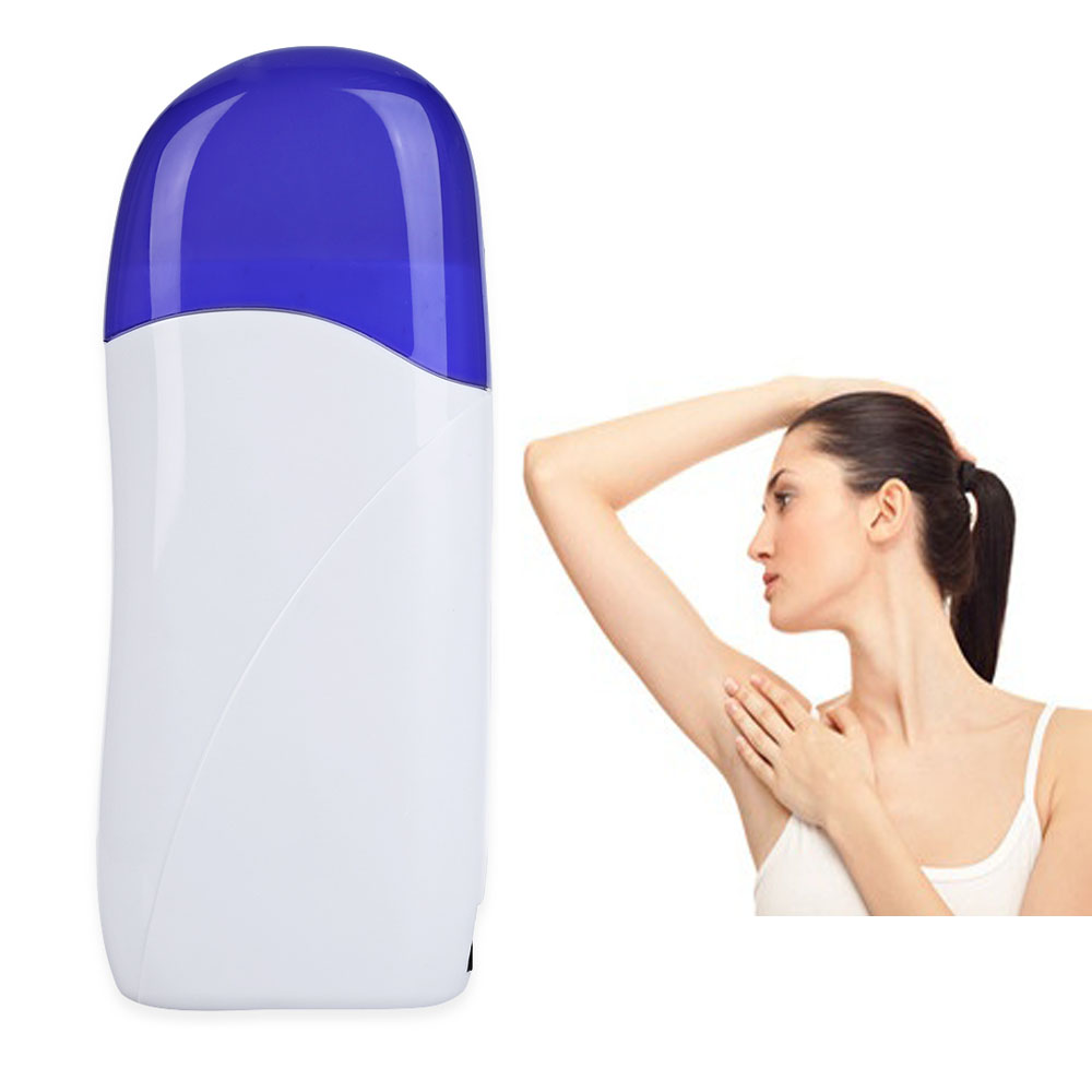Electric Paraffin Heater Roll-On Refillable Depilatory Hair Removal Depilation Wax Heater Epilator Waxing Machine Hair Removal professional single handheld depilatory wax hair removal machine portable epilator roll on depilatory heater