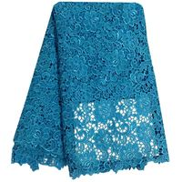 2016 Latest African French Lace Fabric High Quality African Tulle Lace Fabric For Wedding Sky Blue