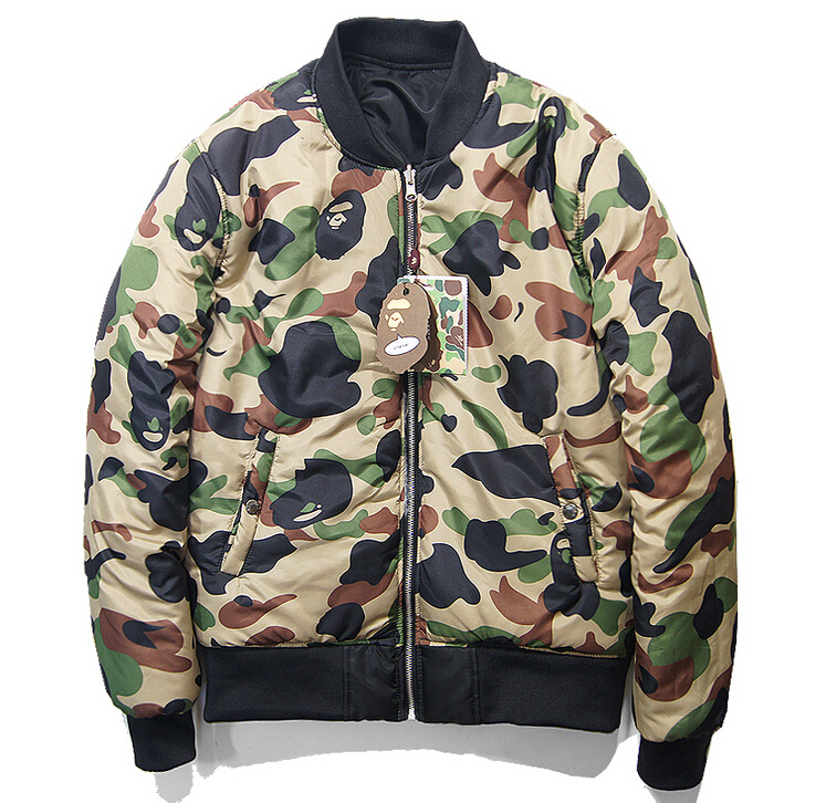 Online Shop High Quality Cool Camouflage Bape Winter Baseball MA1 ...