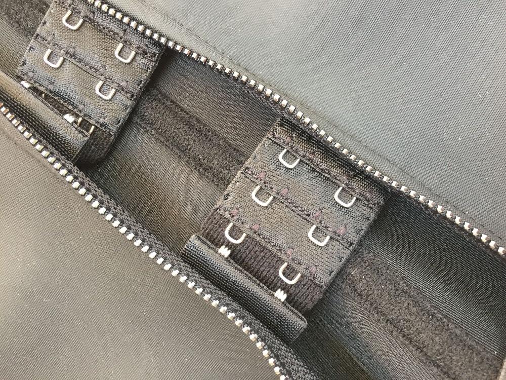 Meisou New Latex Waist Trainer Body Shaper Women Corset with Zipper Hot Shaper Cincher Corset Top Slimming Belt Black Plus Size (32)