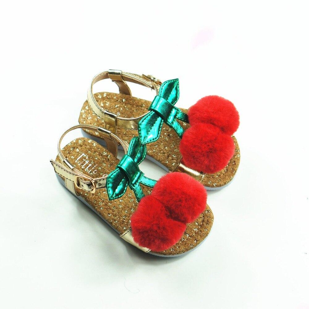 1T-5T Piękny Cherry Dziewczyny Sandały Ekskluzywny Mikrofibry - Obuwie dziecięce - Zdjęcie 3