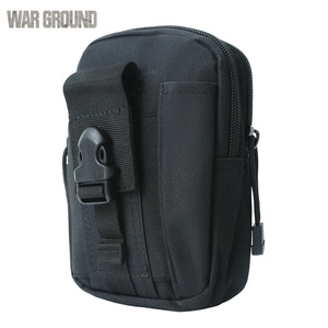Image 4 - WAR GROUND Tactical Belt Waist bag Molle Hunting Pouch Camping  Waterproof Mobile Pocket Running Outdoor Small Bag  For Iphone