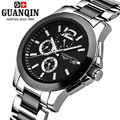Luxury Brand Ceramic GUANQIN Men Watch Sapphire Stainless Steel Men Watch GUANQIN Mechanical Watch Male Wristwatches for Men