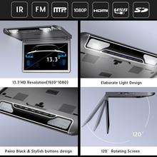 13.3 pulgadas Reproductor Multimedia HD Techo Monitor con USB SD HDMI IR transmisor FM Reproductor MP5