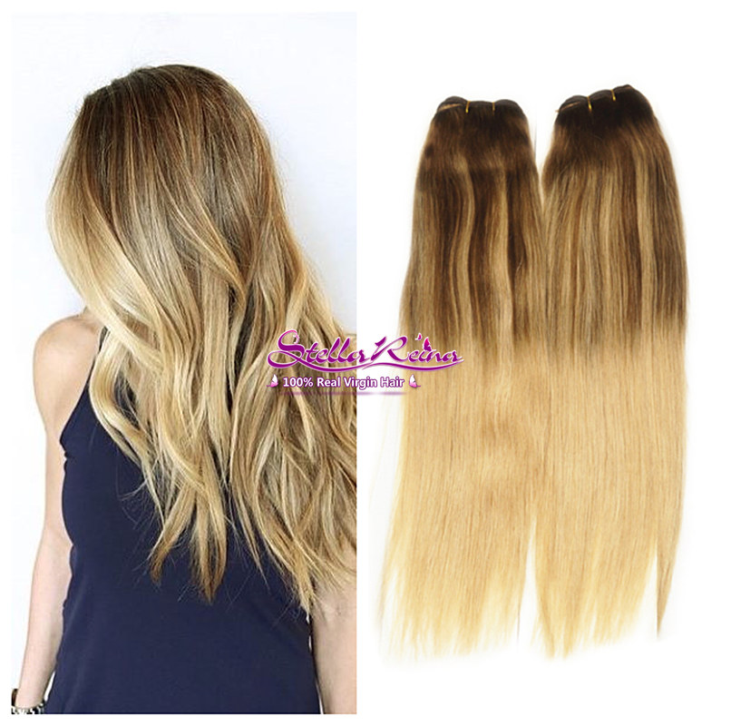 4 Blonde Blond Straight Hair Sweep Blonde Balayage: Aliexpress.com : Buy Mocha Ombre Blonde Balayage