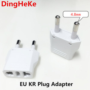 EU European KR Plug Adapter Japan China US To EU Travel Power Adapter Electric Plug Converter Charger Socket AC Outlet(China)