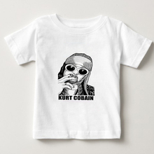 2018 summer new T shirt kids short sleeve T-shirt kurt cobain nirvana 90s rock Funny t Shirt boy/girl Cotton t-shirt camiseta  N