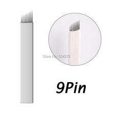 9 PinX50pcs Permanent Makeup blade needle Manual pen blade needle