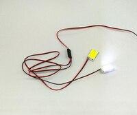 Strobe piscando led luz flash duplo s à prova ddiy água diy lâmpada 12 v fonte de alimentação navegação noite rc carro/barco/avião