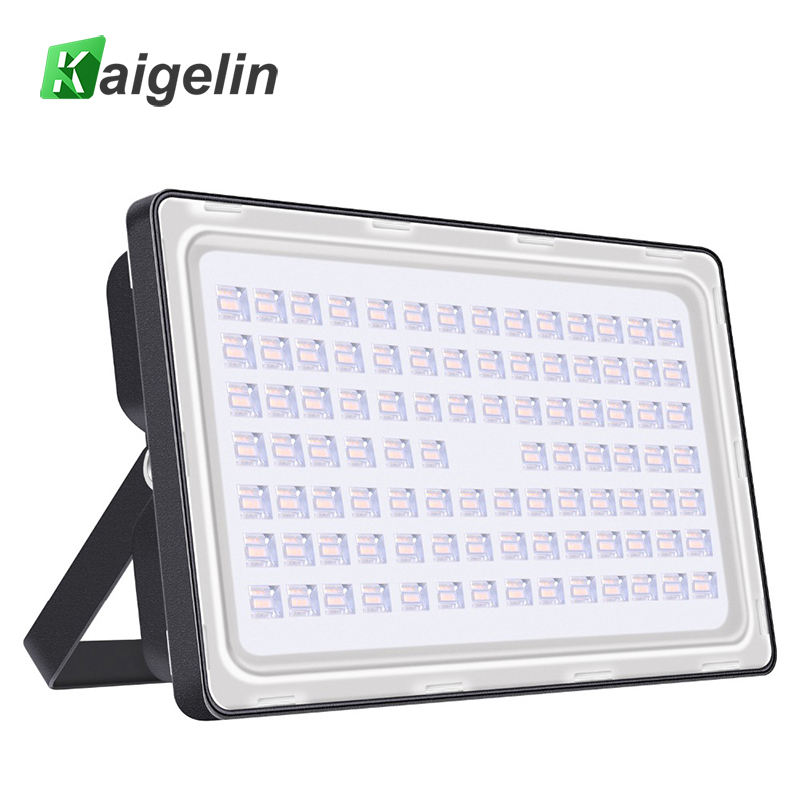 Kaigelin 200W LED Flood Light Full Power 24000LM IP65 Waterproof LED Floodlight Reflector LED Spotlight Outdoor Garden Lighting led flood light 200w eptar led floodlight outdoor lighting 220v 240v led reflector spotlight ip65 waterproof garden lamp