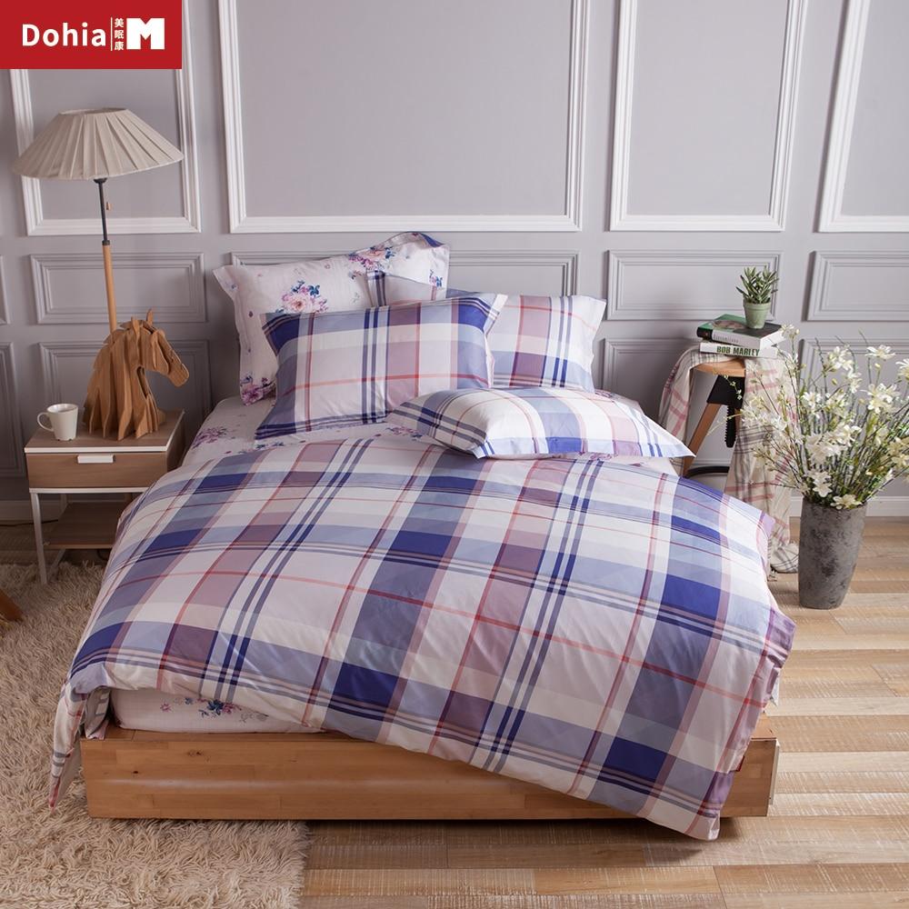 Dohiammk Sheet Pillowcase Duvet Cover Set 4PCS Bedding Set High Density 100% Cotton Direct Bohemia Style Bedroom Textile
