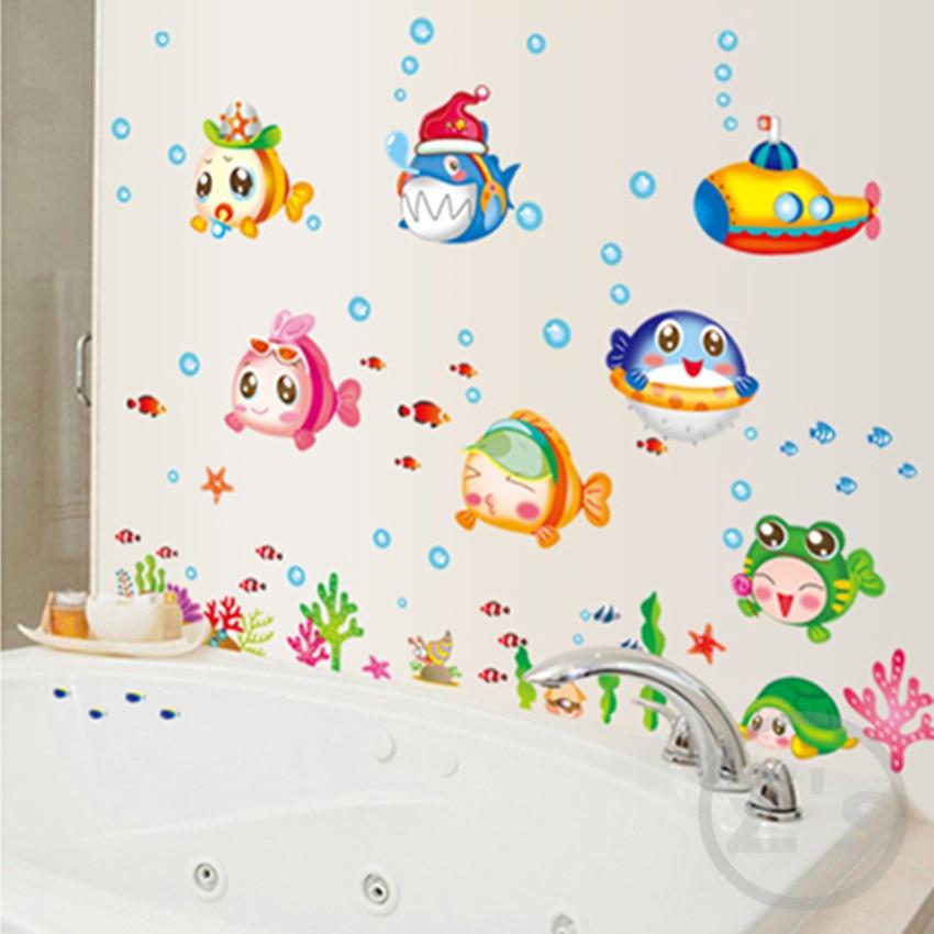 zs sticker nemo fish sea cartoon wall sticker for shower tile