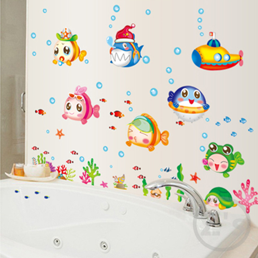 Aliexpress.com : Buy Nemo Fish Sea Cartoon Wall Sticker For Shower Tile  Stickers In The Bathroom For Children Kids Baby Bath From Reliable Cartoon  Wall ... Part 49