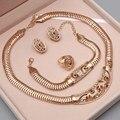 Africano Sistemas de la Joyería de Perlas Accesorios de La Boda Del Estilo Del Verano de Cristal Plateado Oro de La Joyería Collar Pulsera Pendientes Anillos Set