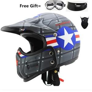 Image 4 - motocross casco moto vintage motorcycle helmet jet capacetes de motociclista off road cascos para moto thompson modular