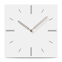 Brief Modern Design Wood Wall   Clock   Creative Square Silent MDF Wooden Hanging Wall Watch European Style Wall   Clocks   Home Decor
