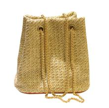 Summer Hot Bucket Bags Beach Bags Straw Bohemia Style Women Messenger Bags High Quality Chains Shoulder Crossdody Handbags Bolsa