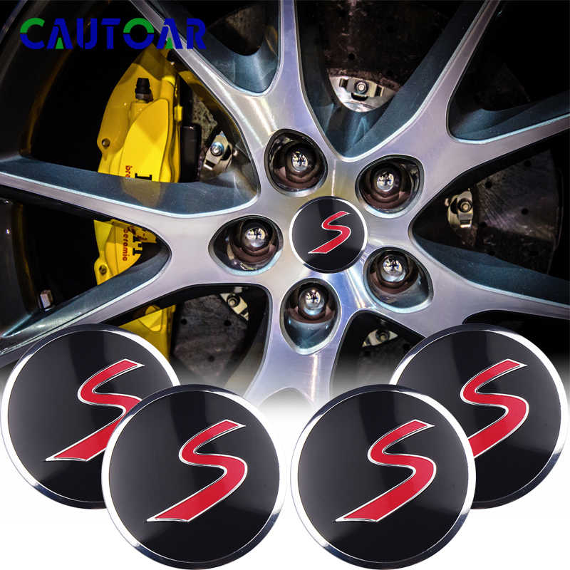 Hub Caps For Mini Cooper S Coupe Jcw F56 F60 R50 R52 R53 R55 R56 54mm Badge Dust-Proof Cover Wheel Trim Set Car Styling Accessori 4pcs Auto Alloy Wheel Center Hub Caps Covers