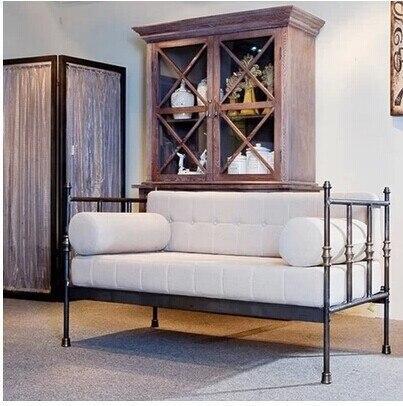 US $1288.0 |Tavoli e sedie in ferro battuto Poltrone doppio sedie banchi  poltrona da salotto-in Divani da soggiorno da Mobili su Aliexpress.com | ...