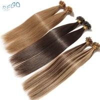 SEGO Straight 1618 2022 24 Keratin Capsules Human Fusion Hair Nail U Tip Non Remy Pre Bonded Hair Extension 1g/strand 50g