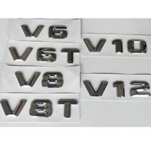 Chrome 3D Letters Trunk Fender Displacement Badge Badges Emblem Emblems V6 V8 V10 V12 V6T V8T V10T V12T for Mercedes Benz AMG цена и фото