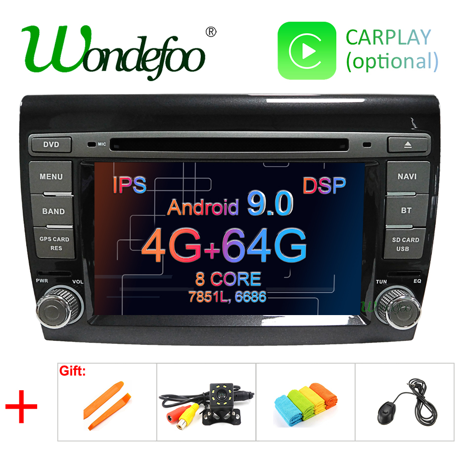 IPS DSP Android 9 0 4G 64G Car GPS RADIO for Fiat Bravo 2007 2008 2009