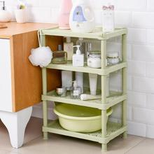 Plastic Bathroom Storage Rack Square Toothbrush Holder Landing Shelf Kitchen Organizer