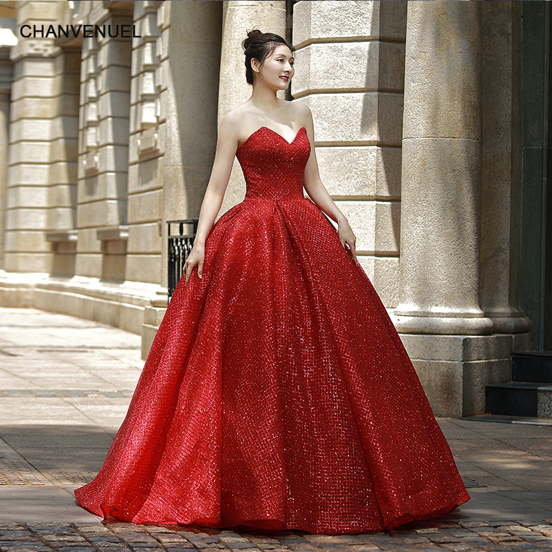 RSM66575 red sexy strapless floor length evening dress for princess girl high quality real price free shipping newest design