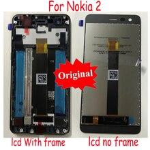 LTPro מקורי חדש הטוב ביותר LCD תצוגת מסך מגע Digitizer הרכבה חיישן + מסגרת עבור Nokia 2 N2 TA 1007 TA 1029 TA 1035 TA 1011