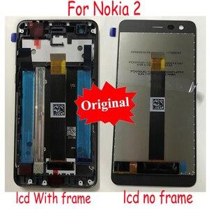 Image 1 - LTPro מקורי חדש הטוב ביותר LCD תצוגת מסך מגע Digitizer הרכבה חיישן + מסגרת עבור Nokia 2 N2 TA 1007 TA 1029 TA 1035 TA 1011