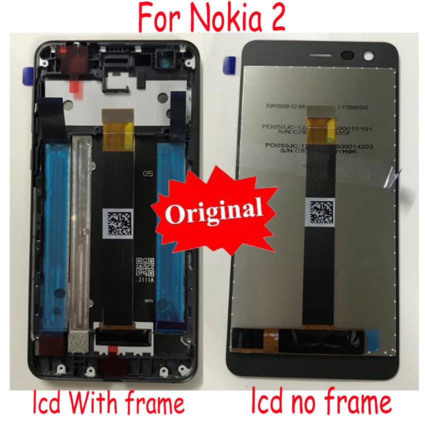 LTPro Original New Best LCD Display Touch Screen Digitizer Assembly Sensor+ Frame For <font><b>Nokia</b></font> <font><b>2</b></font> N2 TA-1007 TA-<font><b>1029</b></font> TA-1035 TA-1011 image