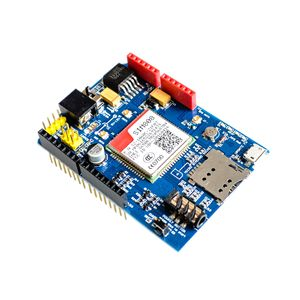 Image 2 - عالية الجودة SIM808 جي بي آر إس/جي إس إم + نظام تحديد المواقع درع 2 في 1 درع جي إس إم جي بي آر إس مجلس التنمية SIM808 وحدة لاردوينو
