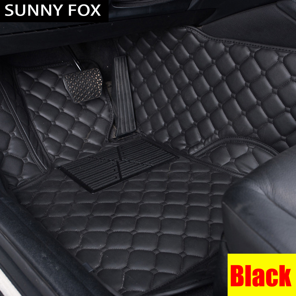 SUNNY FOX car floor mats for Mercedes Benz W203 S203 CL203 W204 S204 C204 W205 S205 C class C180 C200 C300 car styling liners