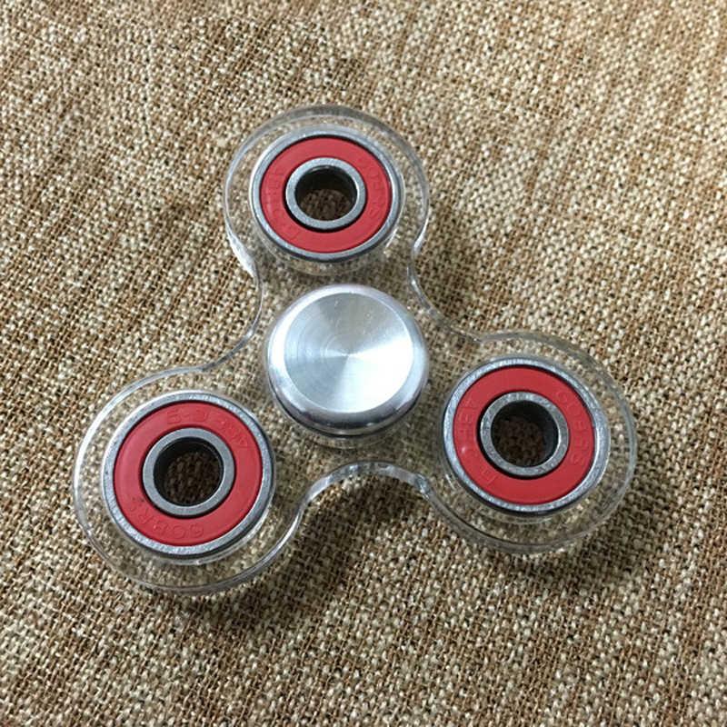 Модные Акриловые ручная вертушка прозрачный фиджет-Спиннер EDC, ручная вертушка спин Пластик игрушки Fidget для Для детей/взрослых подарки