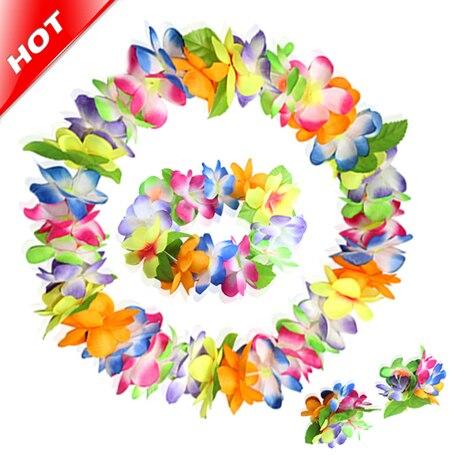 2017 multicolor hawaiian 10 pieces party artificial flower lei fancy 2017 multicolor hawaiian 10 pieces party artificial flower lei fancy dress necklace garland bracelet wedding decor mightylinksfo