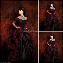 ¡Histórico! R-589 Vintage disfraces 1860 s guerra Civil Southern Belle Ball vestido de boda/Vestido gótico Lolita vestidos victorianos
