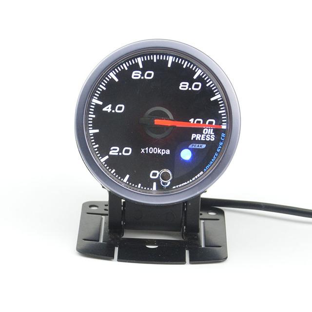 60mm stepper moto corrida reequipamento carro de auto-teste de função ponteiro medidor de pressão de óleo do carro auto calibre frete grátis