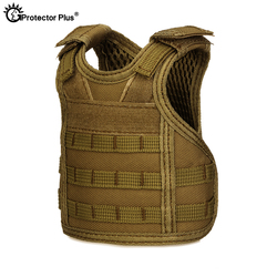 PROTECTOR PLUS Tactical Vest Layer Military Beer Bottle Set Mini Molle vest Hunting Bottle Drink set Adjustable Shoulder Straps