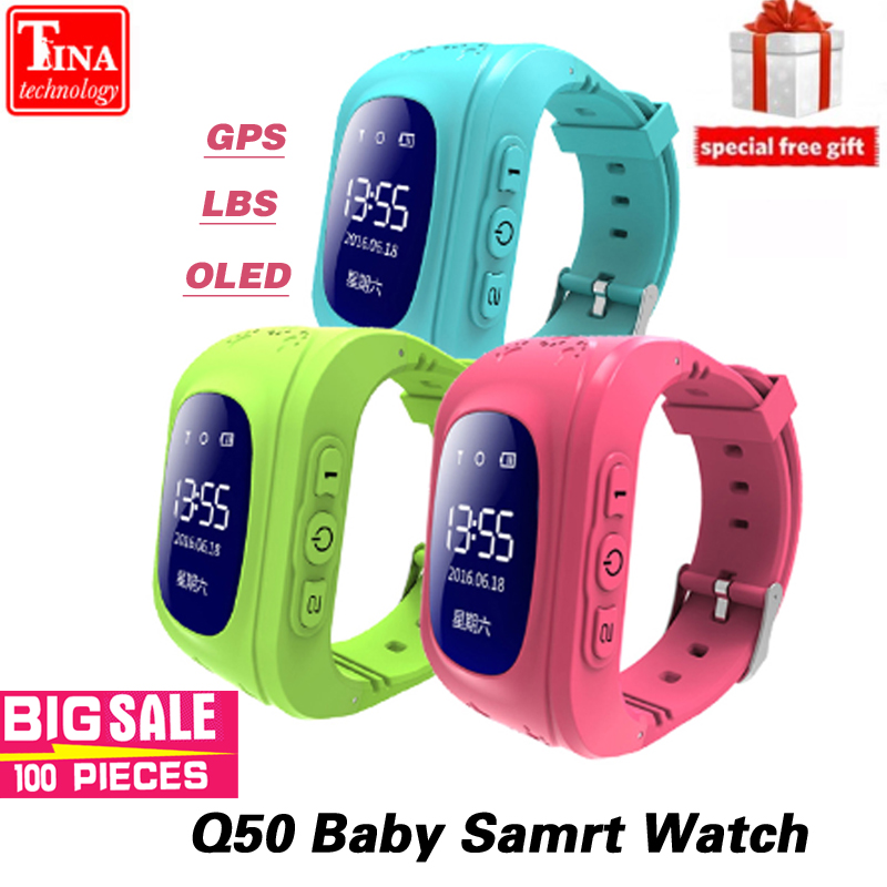 Q50 OLED Bildschirm GPS Smart Kid Uhr SOS Anruf Location Finder Locator Tracker für Childreb Anti Verloren Monitor Baby Armbanduhr