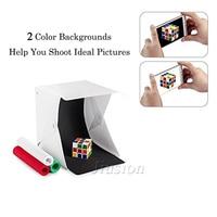 Портативный складной мини светодиодный световой короб фотография домашняя комната фотостудия белый софтбокс для DSLR и другой камеры светов...