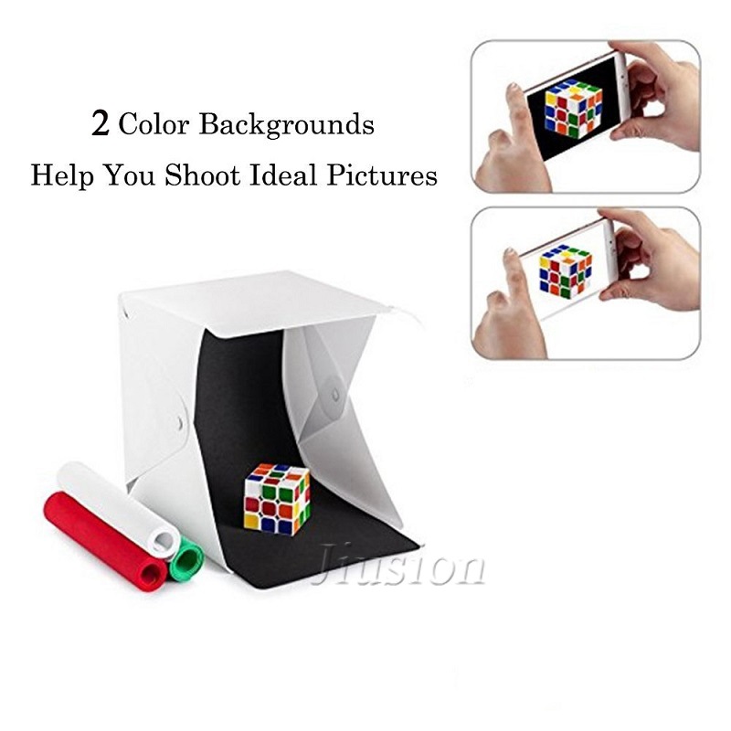 Portable Folding Mini Led Light Box Photography Home Room Photo Studio White Soft Box For DSLR And Other Camera Light Box Acc