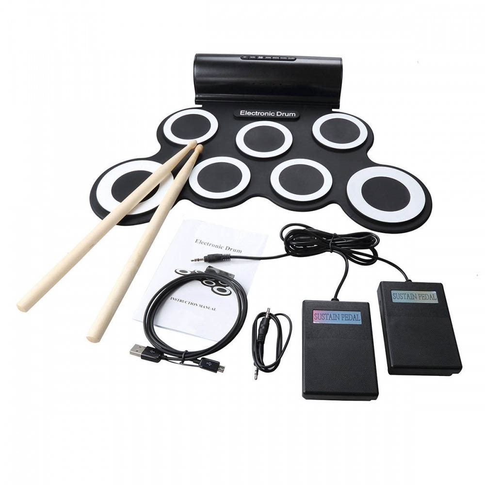 Portable Roll Up Electronic Drum USB MIDI Digital Drum Musical Instrument for Children Kids Learning Practice cheerlink md 1008 usb portable multifunctional professional midi electronic drum multicolored