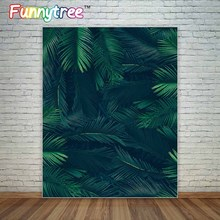 Jungle leaves tropical party theme birthday backdrop decoration photographic background photo backdrop for photography