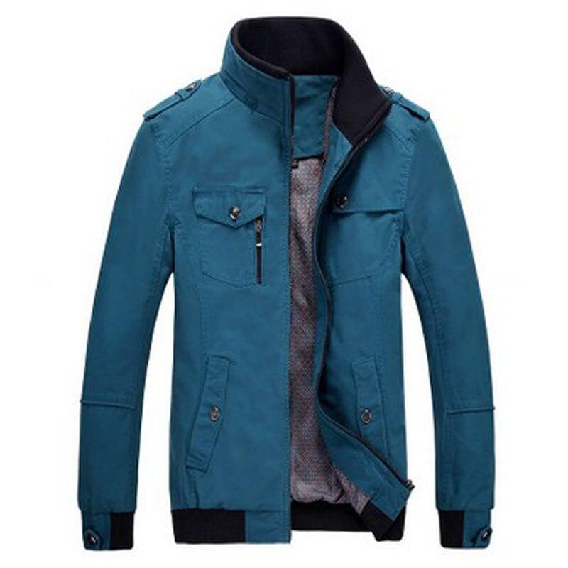 Décontractée Black Clothing Outwear green Chaude Vestes Manteaux khaki Solide Automne Mince blue Veste Et 2017 Marque Hommes Vente Mens Nouveau Bomber N0wOvmny8