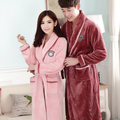 Winter thick flannel nightgown bathrobe couple of men and women in autumn and winter coral velvet tracksuit