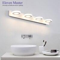 Round/Square Mordern minimalist acrylic mirror lamp LED bathroom waterproof mirror light bedroom wall lamp WML033