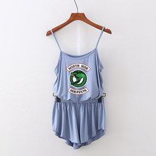 Riverdale Camisole two piece set Cool Women Camisole Oversize Navel sleeveless waistcoat and Kpop Shorts Pants Sexy Summer(China)
