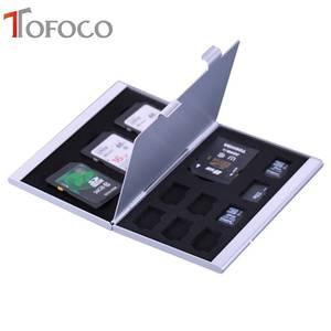 TOFOCO Case Memory-Card-Storage-Box Sd-Card 8-X-Micro-Sim-Card Protecter for MMC TF 4x